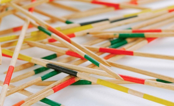 Mikado, children's game, close up